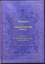 The Parish Registers of Gatton and of Sanderstead in Surrey | eBooks | Reference