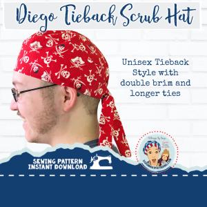 Men S Tieback Surgical Scrub Hat Sewing Pattern