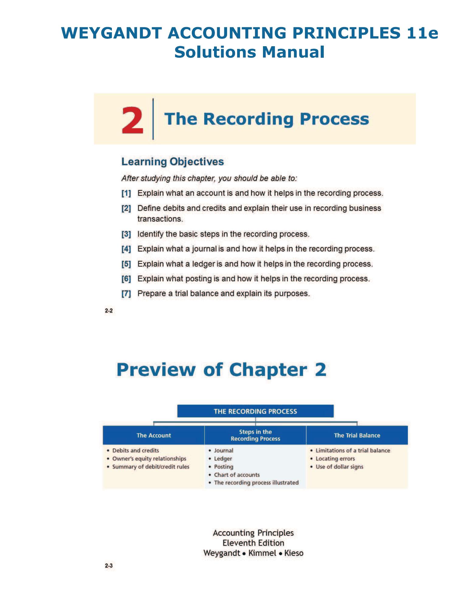 Accounting principle weygandt kieso kimmel 9e solution Manual
