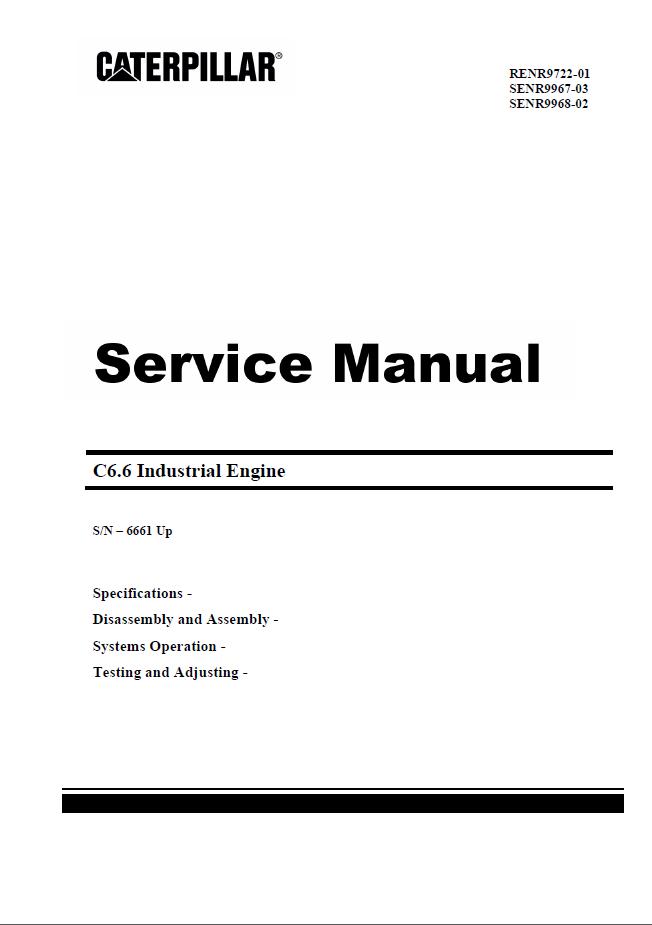 Cat d4h pdf Service Manual