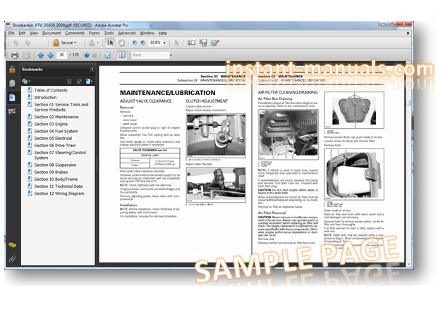 2000 bombardier ds650 atv service manual pdf  torque specs, 98, look up  parts or do routine maintenance on your machine, you can atv service diy /  repair